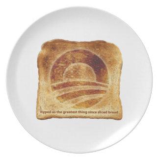 Obama's Toast Plate