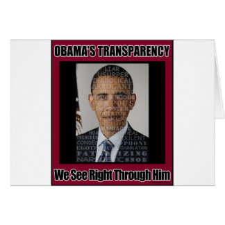 Obama's Transparency Greeting Card