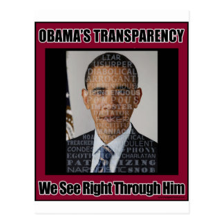 Obama's Transparency Postcard