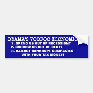 OBAMA'S VOODOO ECONOMICS! BUMPER STICKERS