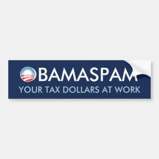 ObamaSpam Pegatina Para Auto