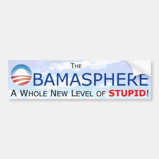 Obamasphere una pegatina para el parachoques del n pegatina para auto