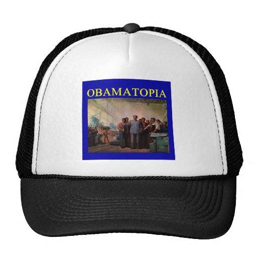OBAMATOPIA anti obama design Trucker Hat