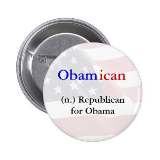 Obamican Button