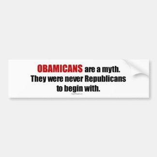 Obamicans es un mito ellos nunca era republicanos pegatina de parachoque