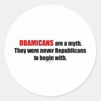 Obamicans es un mito ellos nunca era republicanos etiqueta redonda