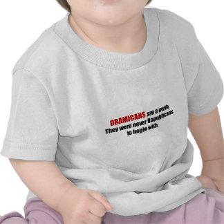 Obamicans es un mito ellos nunca era republicanos camiseta