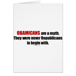 Obamicans es un mito ellos nunca era republicanos tarjeton