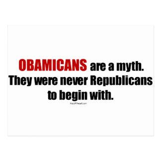 Obamicans es un mito ellos nunca era republicanos tarjetas postales
