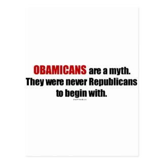 Obamicans es un mito ellos nunca era republicanos postal