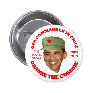 OBAMIE THE COMMIE PINBACK BUTTON