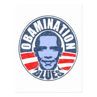 Obamination Blues Postcard