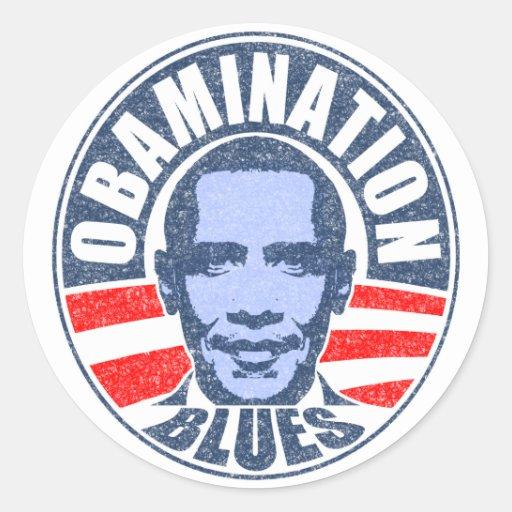 Obamination Blues Sticker