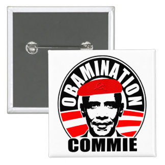 Obamination Commie Button