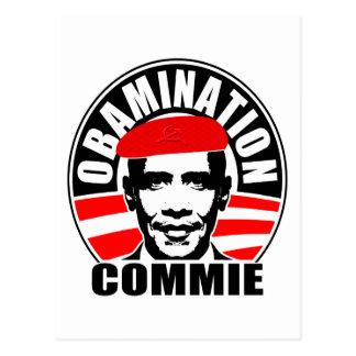 Obamination Commie Postcard