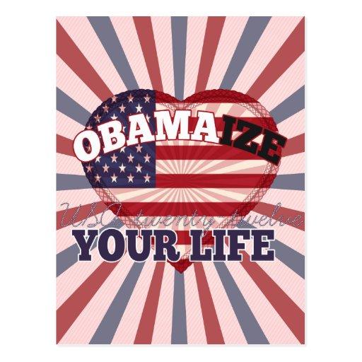 Obamize su vida postales