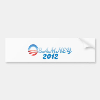 ¡Obamney 2012! Pegatina Para Auto