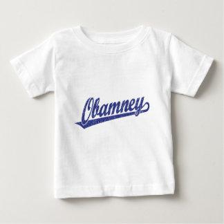 Obamney blue script logo tee shirts