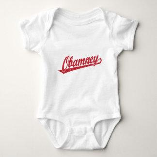 Obamney red script logo t shirts
