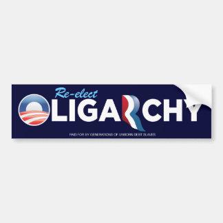 Obamny Oligarchy Bumper Sticker Car Bumper Sticker