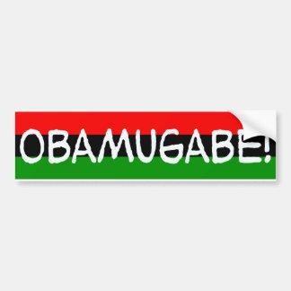 obamugabe del mugabe de obama pegatina para auto
