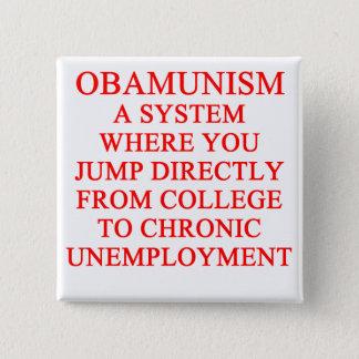 OBAMUNISM anti obama shirt Pinback Button