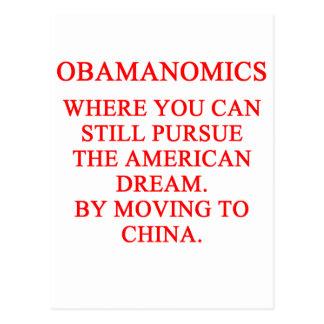 OBAMUNISM anti obama shirt Postcard