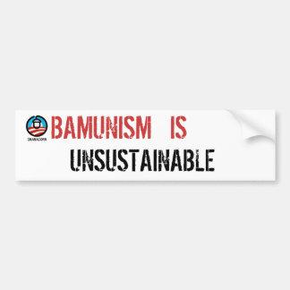 Obamunism es insostenible pegatina para auto