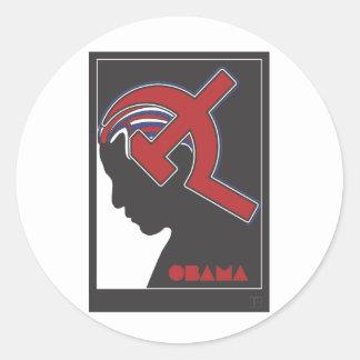 Obamunism Etiquetas Redondas