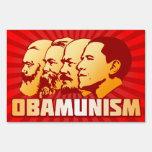 Obamunism Lawn Sign