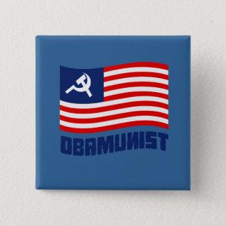 Obamunist Flag Pinback Button