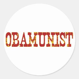 Obamunist (Socialism) Classic Round Sticker
