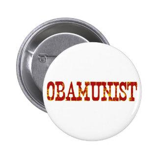 Obamunist (socialismo) pin redondo 5 cm