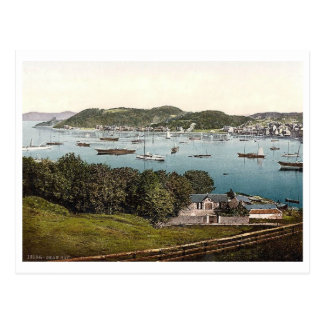 Oban Bay, Scotland Vintage Postcard