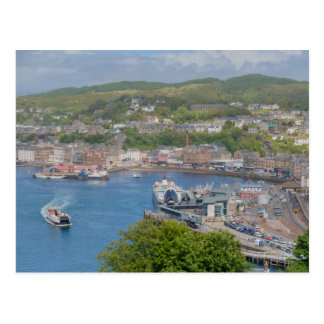 Oban Harbour Aerial from Pulpit Hill Postcard