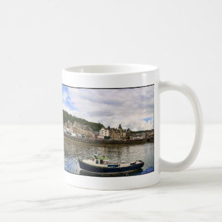 Oban Harbour Panorama Coffee Mug