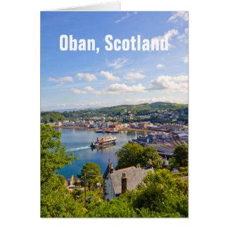 Oban in Scotland, greeting card
