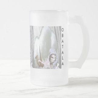 OBATALA FROSTED GLASS BEER MUG