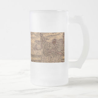 OBATALA OLOFI BY LIZ LOZ FROSTED GLASS BEER MUG