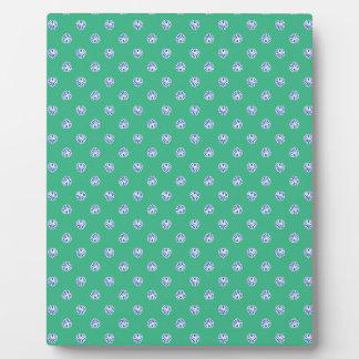 OBB green white shells patterns templates backgrou Photo Plaques