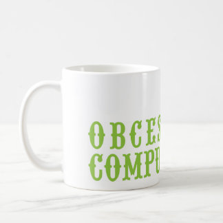 Obcessive Compulsive 2 Green Vintage Hiking Duck Mugs