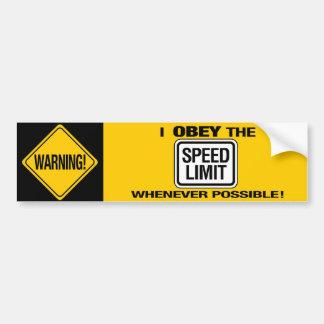 Obedezca a la pegatina para el parachoques del lím etiqueta de parachoque