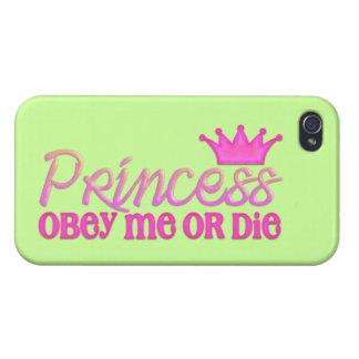 Obedezca a la princesa iPhone 4/4S carcasa