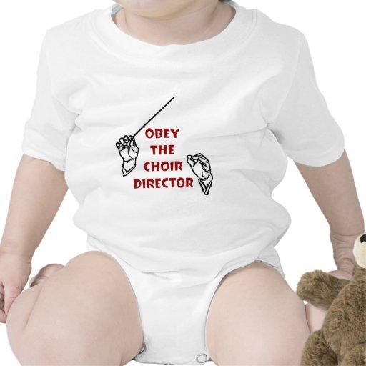 Obedezca al director del coro traje de bebé