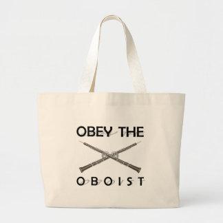 Obedezca al oboe bolsa tela grande