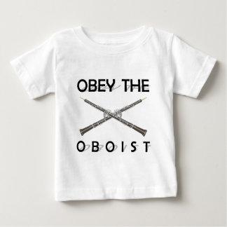 Obedezca al oboe playera de bebé