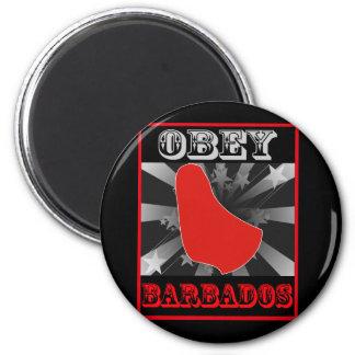 Obedezca Barbados Imán Redondo 5 Cm