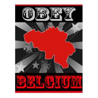 Obedezca Bélgica Tarjeta Postal