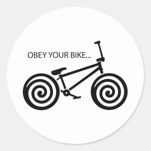 Obedezca BMX Pegatina Redonda