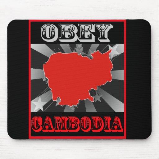 Obedezca Camboya Alfombrilla De Raton